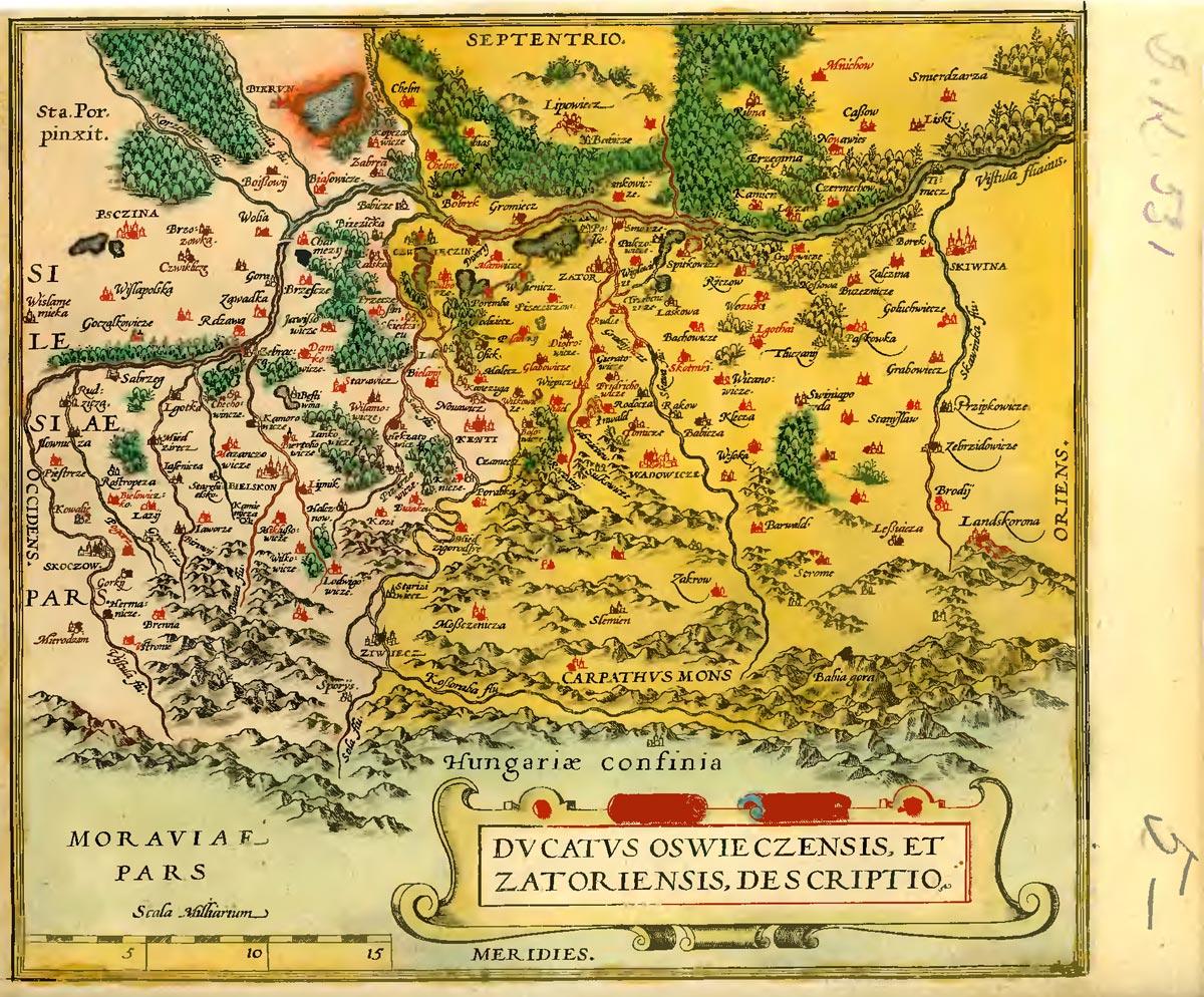 Mapa księstwa zatorskiego
