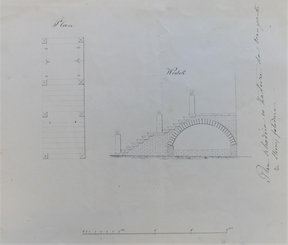 Projekt schodów - Zamek w Zatorze